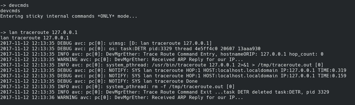 Traceroute now worked